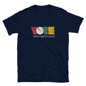 VOTE Retro Short-Sleeve Unisex Tee (Wavy Navy)