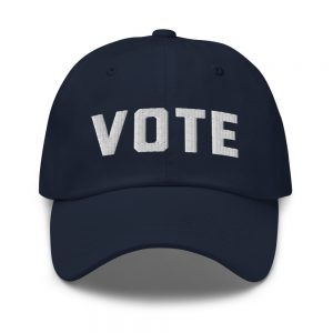 Simply VOTE Dad Hat (White)